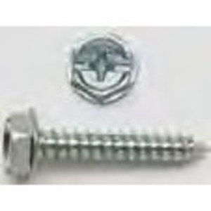 Bizline R102HWH Tapping Screw, Hex Washer Head, 10 x 2""