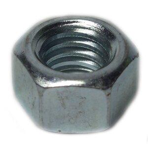 "Bizline R1213HN Hex Nut, 1/2"", Zinc Plated Steel, 100/PK"