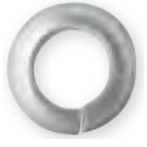 "Bizline R38LW188 Split Lock Washer, Stainless Steel, 3/8"", Jar of 100"