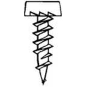 "Bizline R6716FS Framing Screw, Pan Head, Phillips, Sharp Point, 6 x 7/16"""