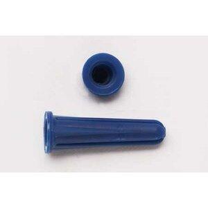 "Bizline R68BA Conical Plastic Anchor, # 4-6 x 1"", Blue"