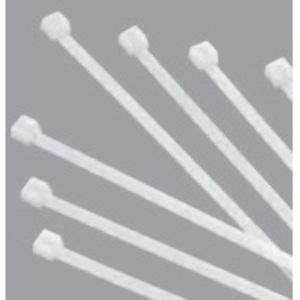 """Bizline RR-04-18-9-C Cable Tie, Miniature, Nylon, Natural Color, 4"""", Bag of 100"""
