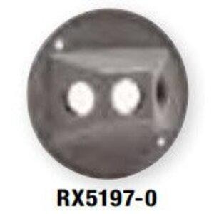 """Bizline RX5197-0 Weatherproof Round Cluster Cover, (3) 1/2"""" Holes, Die Cast"""