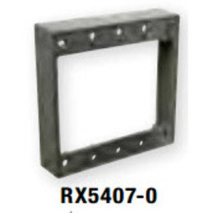 "Bizline RX5407-0 Weatherproof Box Extention, 2-Gang, 1"" Deep, Die Cast"