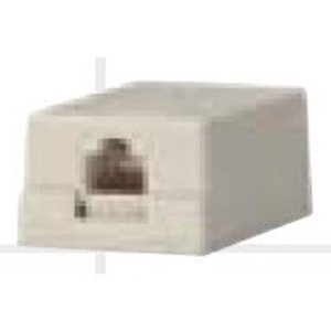 Bizline SMB1PWHT Multimedia Box Housing, Surface Mount, 1-Port, White