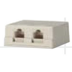 Bizline SMB2PWHT Multimedia Box Housing, Surface Mount, 2-Port, White
