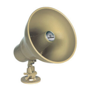 Bogen HS15EZ Horn Loudspeaker, Tilt/Swivel, 15W, Weatherproof, Metallic