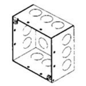 "Bowers 4-SDW-1/2 4"" Square Box, Welded, Metallic, 2-1/8"" Deep"