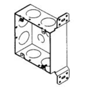 "Bowers 5-SDW-FB-1 4-11/16"" Square Box, Welded, Metallic, 2-1/8"" Deep, ""CV"" Bracket"