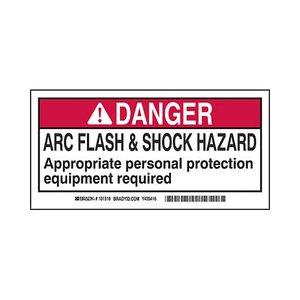 Brady 101518 B302 2x4 Blk,red/wht 100/rl Flash&shock