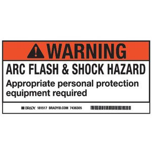 Brady 101519 Arc Flash/Shock Hazard Label