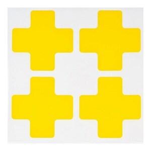 "Brady 104469 Floor Marking Tape, 2"" x 5"" Center + Mark, Yellow"