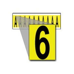 Brady 3440-6 34 Series Number & Letter Card
