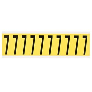Brady 3440-7 34 Series Number & Letter Card