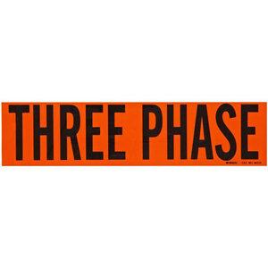 "Brady 44131 2-1/4""x9"" Vinyl Three Phase Conductor Marker, BLK on OR"
