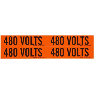 Brady 44215 Voltage Marker Cards, 480 Volts