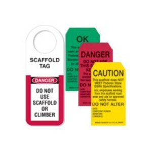 Brady 48112 Scaffold Holder & Tags