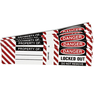 Brady 50280 B826/b674 Lockout Labels 6 Sets / Pk