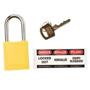 Brady 51346 Brady Sfty Padlock,1.5 In Kd Yellow 6/pac