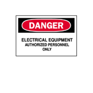 Brady 71545 ELECTRICAL HAZARD SIGN