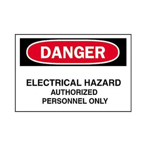 Brady 84066 Electrical Hazard Sign