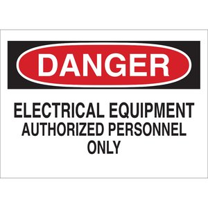 Brady 87754 Electrical Hazard Sign