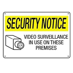 Brady 95496 Security Notice Sign