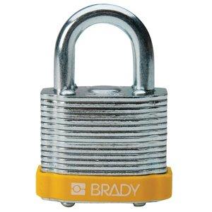 """Brady 99512 BRA 99512 3/4""""STL LOCK YELSTEEL PADLOCK YELLOW"""