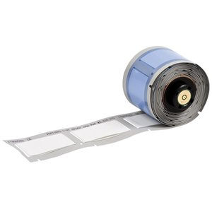 "Brady PSPT-187-1-WT Wire Marker Sleeves, 1.015"" x 0.335"""
