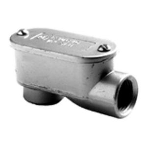 "Bridgeport Fittings 1028-XL Conduit Body, Type: LB, Size: 1-1/4"", Aluminum"