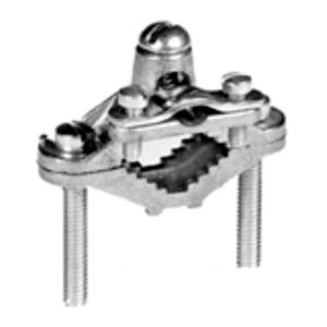 """Bridgeport Fittings 1312-B Ground Clamp, Pipe: 1-1/4 - 2"""", Wire: 8  - 4 AWG, Brass"""