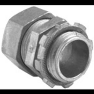 """Bridgeport Fittings 255-DC2 EMT Compression Connector, 2"""", Zinc Die Cast, Concrete Tight"""