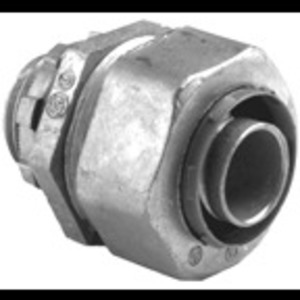 "Bridgeport Fittings 430-LT2 Liquidtight Connector, Straight, 1/2"", Die Cast Zinc"