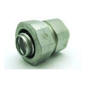 "Bridgeport Fittings 4372-LT Liquidtight Connector, Type: Transition, Rigid to LFMC, 1"", Malleable"