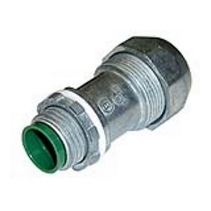 "Bridgeport Fittings 595-DC2 MC Cable Connector, 3/8"", Cable Range: .50 to .61"", Zinc Die Cast"