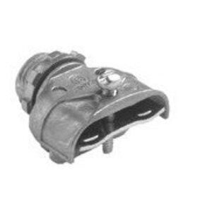 """Bridgeport Fittings 601-DC2 MC/AC Connector, 3/8"""", Duplex, Zinc Die Cast"""