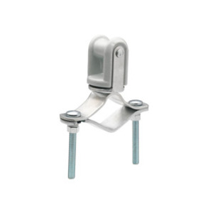 Bridgeport Fittings MWH-1 Wire Holder, Clamp Type, Porcelain, 1-1/4 to 3""