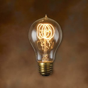 Bulbrite NOS-40-VICTOR Incandescent Bulb, Antique, A19, 40W, 120V, Loop