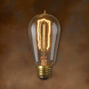 Bulbrite NOS40-1890 Incandescent Bulb, Antique, ST18, 40W, 120V, Hairpin