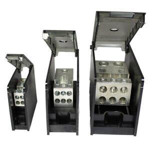 Burndy BDBMHC112/01 Power Distribution Block, 1-Pole, (1) Run/Tap, 14 - 2/0 AWG, 175A, Medium