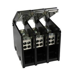 Burndy BDBMHC112/03 Power Distribution Block, 175A, 3 Pole, 600V, Aluminum/Tin