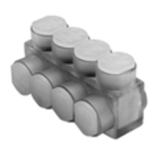 Burndy BIBS2/04 Multi-Tap Connector, 4-Port, Insulated, Clear, 14 - 2/0 AWG, 1-Sided