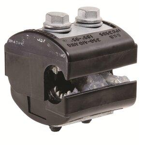 Burndy BIPC3504/0 Insulation Piercing Connector, 4/0 AWG - 350 MCM (Run), 10 - 4/0 AWG (Tap), 600V
