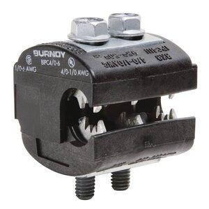 Burndy BIPC4/06 Insulation Piercing Connector, 1/0 - 4/0 AWG (Run), 6 - 1/0 AWG (Tap), 600V