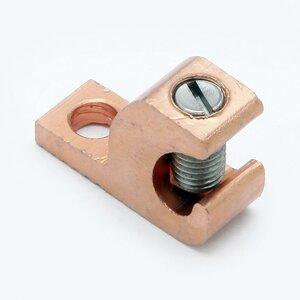 Burndy CL501TNBULK Lay-In Lug, Copper, 14 - 4 AWG, # 10 Stud Hole