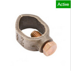 """Burndy GRL6 Ground Rod Clamp, 3/4"""", 10 to 1 AWG, Direct Burial Rated"""