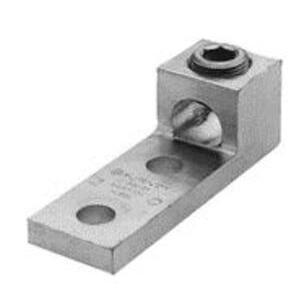 Burndy K3A26U2N Mechanical Lug, 3-Conductor, 2-Hole Mount, Aluminum, 14 - 2/0 AWG