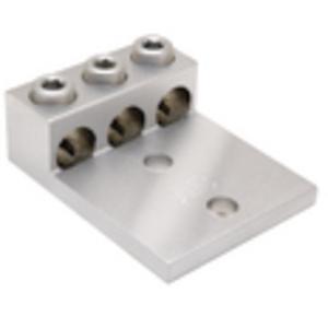 Burndy K3A36U2N Mechanical Lug, 3-Conductor, 2-Hole Mount, Aluminum, 2 AWG - 600 MCM