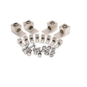 Burndy KAUKIT3 Transformer, Lug Kit, Aluminum, Tin Plated, 6 - 800MCM, 3PH
