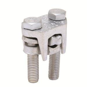 Burndy KVSU34 2-Bolt Connector, Copper, Run: 400 - 500 MCM, Tap: 4 AWG - 500 MCM